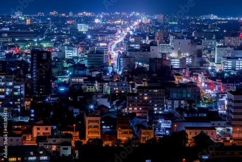 Billede på lærred 米子市の夜景(鳥取県)