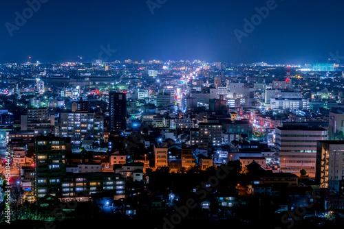 米子市の夜景(鳥取県) Fototapet
