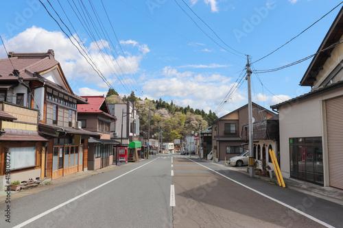 Fotografering 有壁駅前の風景(宮城県栗原市)