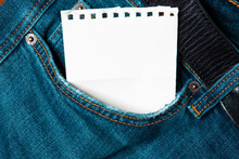 A Note In The Pocket Of Blue Jeans