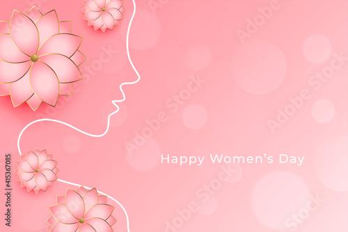 Cuadros en Lienzo beautiful women's day flower decorative wishes greeting design