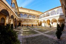 Unesco World Heritage In Ubeda. Building Of The Old Santiago Hospital. Jaén, Spain