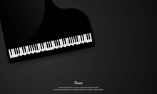 Piano Abstract Background. Piano Concert And Music Festival Poster Modern Vintage Retro Style. Classic Music Piano Background For Poster, Web, Leaflet, Magazine. Vector Illustration