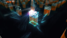 9v Battery With Colorfull Energy Burst. High Quality Photo