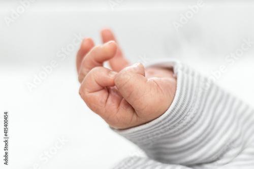 Fototapeta Dłoń małego noworodka obraz