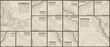 Topographic pattern texture vector Set. Grey contours vector topography. Geographic mountain topography vector illustration. Map on land vector terrain. Elevation graphic contour height lines.