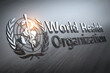 Leinwandbild Motiv World Health Organization sign and symbol.