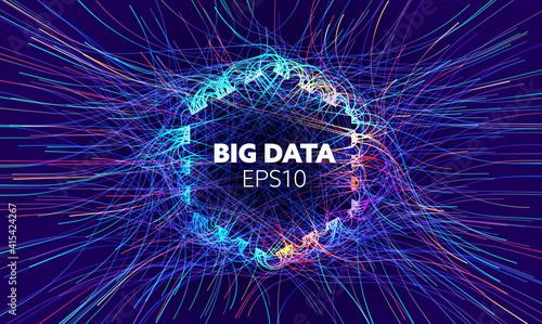 Fotografiet Big data vector background
