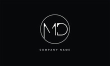 MD, DM, M, D Abstract Letters Logo Monogram