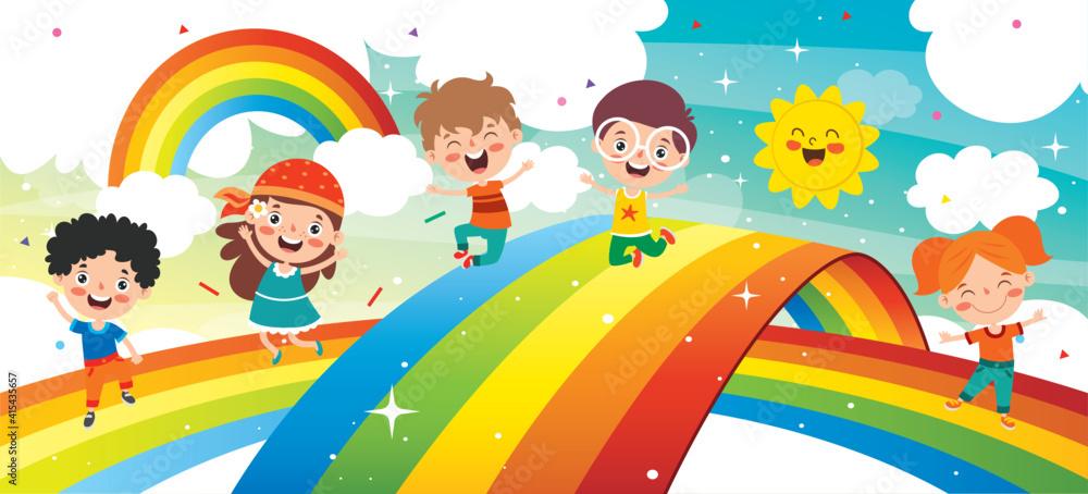 Fototapeta Concept Of A Colorful Rainbow