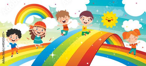 Fototapeta Concept Of A Colorful Rainbow obraz