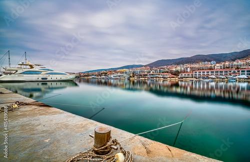 view of the port country, Sveti Vlas in Bulgaria