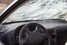 Uszkodzony Samochód W Wyniku Wypadku Drogowego