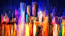 Abstract Artistic Painting Of Skyline