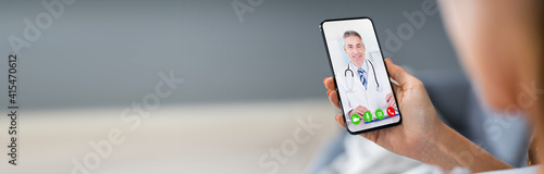 Person Videochatting With Doctor