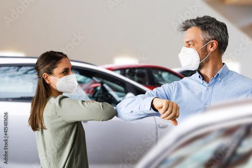 Fototapeta Buyer In Car Dealership obraz