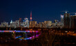 canvas print picture - Beautiful skyline of Toronto at night