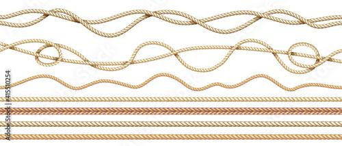 Obraz na plátně Realistic ropes