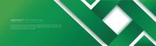 Modern Green Line Banner. Vector Illustration