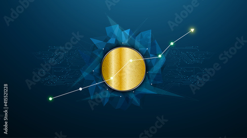 Obraz abstract cryptocurrency innovation tech futuristic concept design background  eps 10 vector - fototapety do salonu