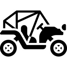 Buggy Icon, Transportation Related Vector