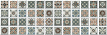 Mosaic Pattern, Background Wall Tiles And Colorful Motif Digital Wall Tiles, Portuguese, Spanish, Italian Style Elements,Ceramics, Tiles, Mosaic, Abstract Motif. Multi Colored Wall Art Decor.