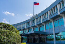Exterior Of Republic Of China Civil Aeronautics Administration. Taipei, Taiwan
