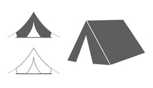Tent Camp 3d Icon