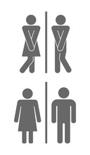Man And Woman Toilet