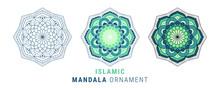 Islamic Mandala Ornament Design Illustration