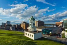 The 120 Year Old Iconic Town Clock Halifax, An Historic Landmark Of Halifax, Nova Scotia