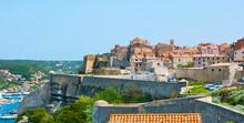 The Ville Haute (upper Town) With Citadel Ramparts, Bonifacio, Corsica, France