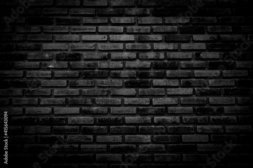 Photo Black brick walls that are not plastered background and texture