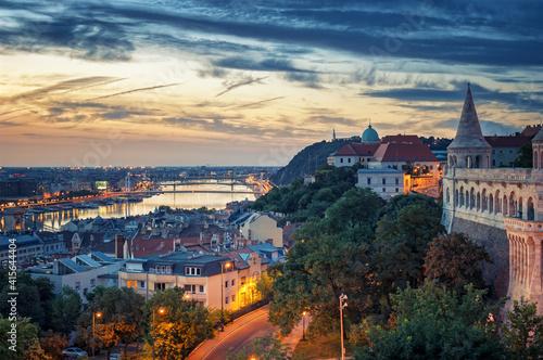 Canvastavla Budapest cityscape Buda castle Hungary
