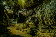 Ingleborough Caves In The Yorkshire Dales National Park In England