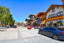 Summer Day At The Bavarian Themed Town Of Leavenworth, Washington, In The Inland Northwest Of The United States.
