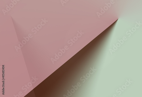 mint green and pastell pink gradient against a dark brown background Wallpaper Mural