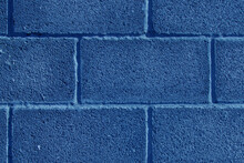 Blue Brick Walls.the Texture Of The Facing Brick As A Background