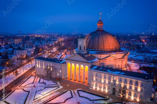 Fotografie, Obraz Catholic Roman Basilica of st. Vincent de Paul, Bydgoszcz