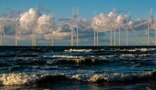 Wind Turbines In An Offshore Wind Farm