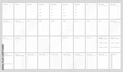 Foto Planner pages  bullet journal for everyday use A5