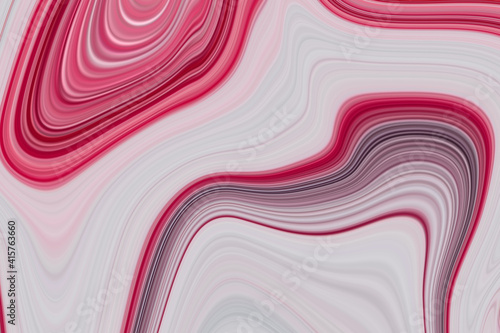 Fotografie, Obraz fuchsia violet silk satin Ink Marble colorful abstract painting background liqui