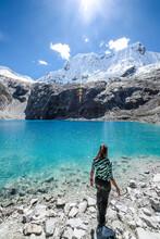 LAGUNA 69 In Peru. Cordillera Blanca Crystal Blue Lake