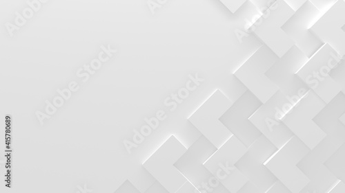 White Abstract Background With Copy Space (3D Illustration)