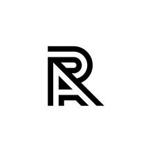 Modern Creative Elegant, Unique Artistic Black And White Color. Letter AR Logo Icon Vector