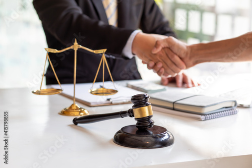 Tableau sur Toile justice and law concept