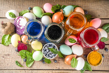 Easter Eggs Painted With Natural Dye