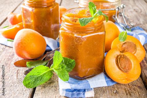 Fototapeta Homemade apricot jam obraz