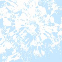 Vector Flower. Ethnic Texture. Baby Blue Craft Art Fabric Print. Baby Blue Batik Brush. Tie Dye Circle. Boho Fashion. Vector Decoration. Tie Dye Texture. Bohemian Art. Summer Fashion.