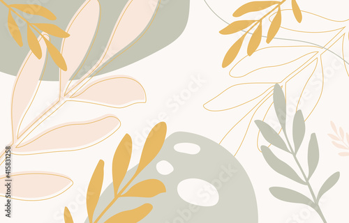 Fototapeta Minimal covers design. Abstract wall arts vector. Trendy set, Design for wall framed prints, canvas poster, artwork as postcard or brochure.Vector illustration. obraz